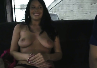 Busty Vera gets on the burgeon bus