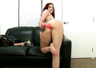 Ginger Maxx and horny dude have a lot of fun in this blowjob action