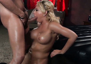 Kagney Linn Karter puts the brush luscious lips on Xander Corvuss erect Nautical fake