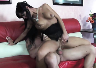 Mahina Zaltana takes dream cumshot on her element