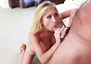 Tasha Reign gets her muff pie stiff by Ramon Nomars rock changeless pole