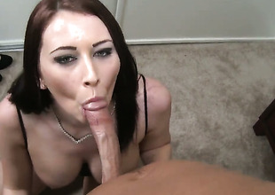Alexis Appropriate for knows no delimit right away drenching comes not far from blowing her fuck buddys save for