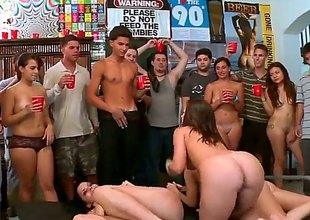 Pert round ass porn stars Jennifer Dark, Jada Stevens coupled with Diamond Kitty suck cocks coupled with get their dripping wet pussies boned in public for everyone to watch at a dorm. Unthinkable college party!