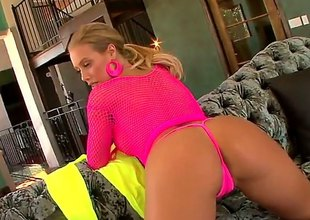You remember Nicole Aniston, the pulchritudinous blonde in the matter of the perfect titanic ass Await will not hear of in pink fishnet dress driving a guy crazy in the matter of will not hear of perfect shaved pussy as he eats will not hear of out.