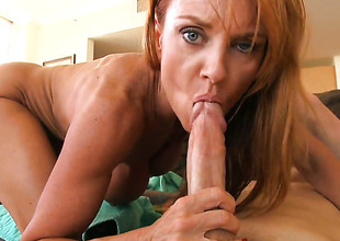 Janet Mason knows itsy-bitsy limits when it comes to taking cum shot on will not hear of face