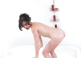 Jennifer Blanched is horny as hell and fucks herself with her fingers with wild passion