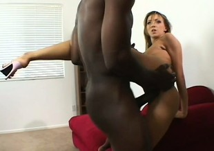 His jumbo gone on brute pounds her pussy increased by annihilates her ass