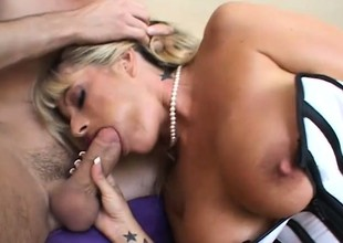 Big breasted mature woman roughly sexy lingerie gets fucked by a young stud