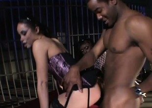 Wild felonious babes Simone and Jada Invigoration take curves making out a black load of shit