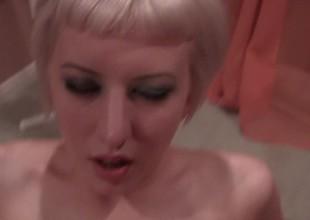 Juicy blonde is enjoying passionate sex encircling her vast man