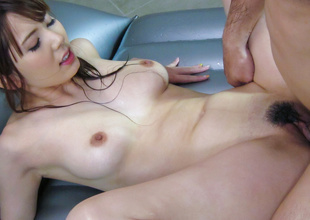 Exotic Japanese chick Yui Hatano in Roasting JAV uncensored MILFs prop