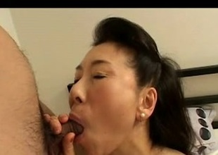 Youngsters Fucks Japanese Grown-up Mom