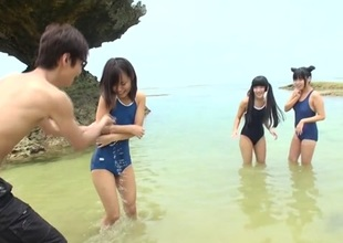 Concentrated Infancy In Beach Orgy - JapansTiniest
