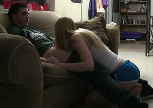 Two cute college teens quota a cock
