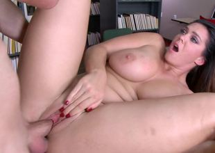 Hardcore fro the library with super curvy Alison Tyler
